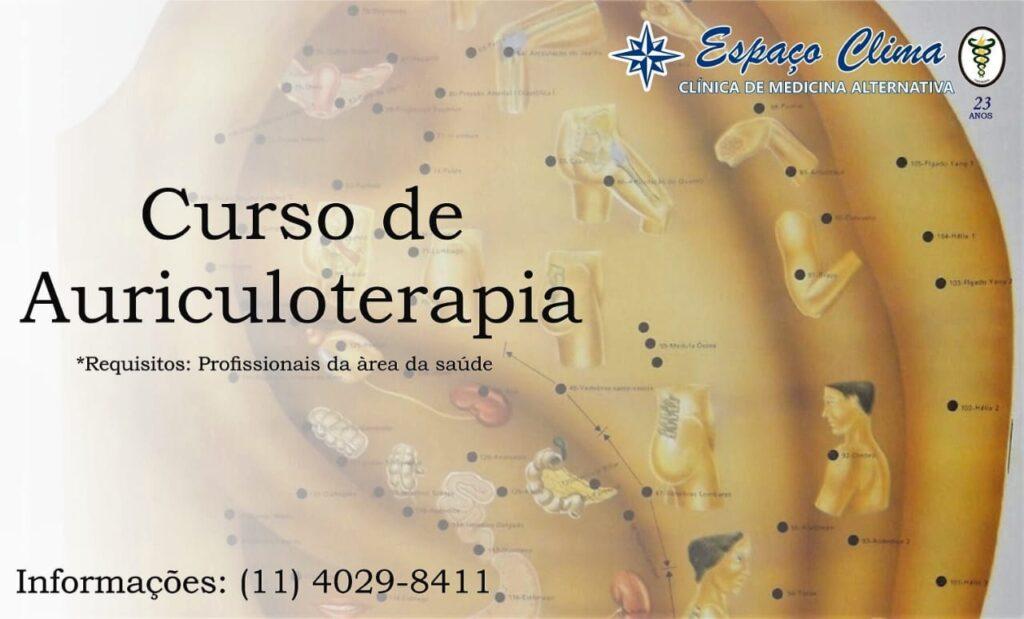 Propaganda Curso de Auriculoterapia
